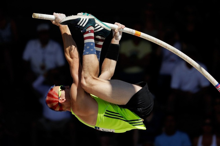 Jordan Scott competes in the Men's Pole Vault Final during the 2016 U.S. Olympic Track & Field Team Trials at Hayward Field on July 4, 2016 in Eugene, Oregon. (Photo by Andy Lyons/Getty Images)