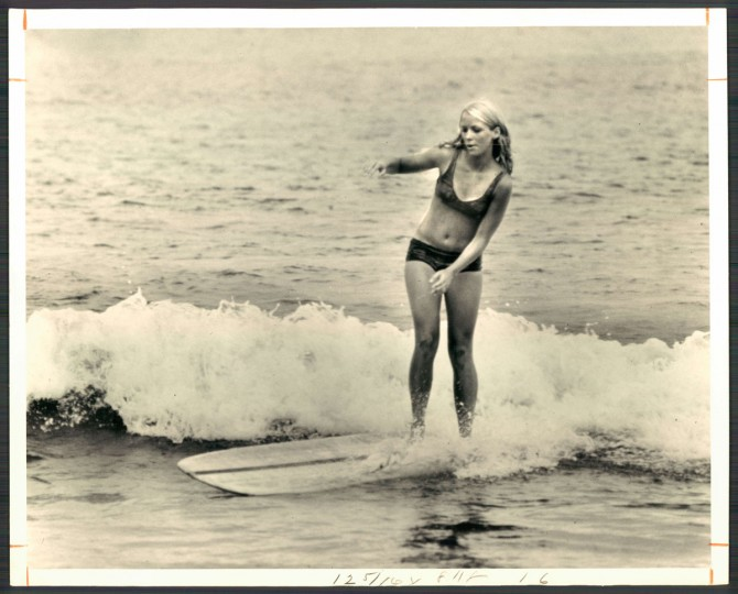 """Now the girls have discovered surfing,"" The Sun reported in 1967. (Photo by William L. Klender/Baltimore Sun)"