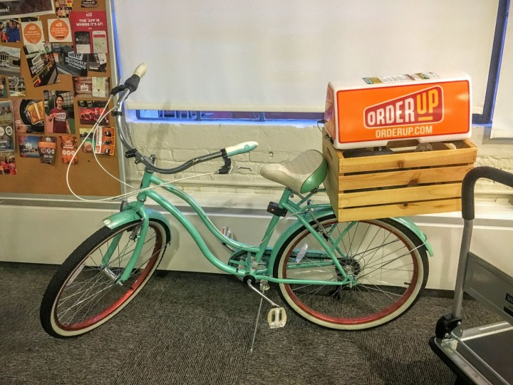 OrderUp by bike or just fun office decor?