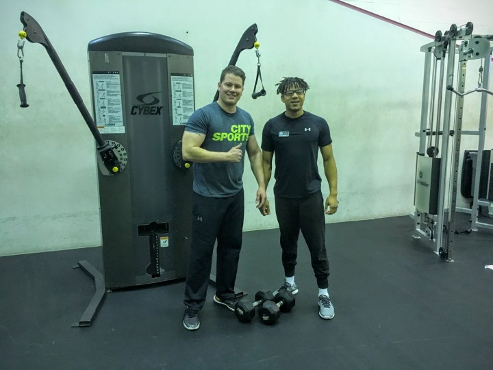 I love getting in a workout with my trainer at Merritt. I'm on the go so much, so I try to fit in a quick workout to start the day.