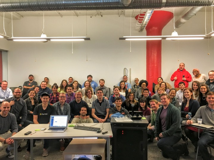 Every week, the whole team (including remote employees across the U.S.) gather to get updates from every division, including sales, marketing, dev, and experience.