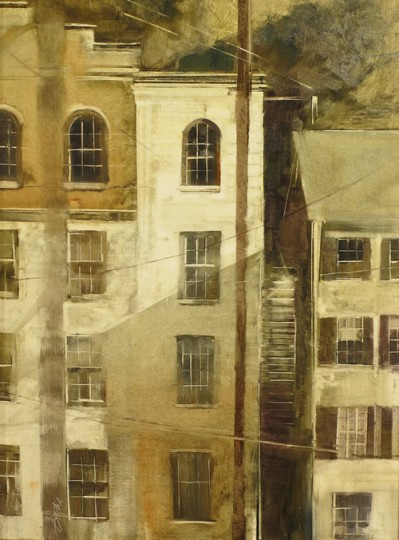 """Windows of Ellicott City"" by Beth Bathe  (Howard County Arts Council)"