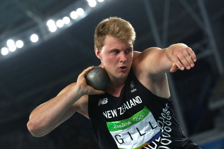 Jacko Gill of New Zealand competes during the Men's Shot Put Final on Day 13 of the Rio 2016 Olympic Games at the Olympic Stadium on August 18, 2016 in Rio de Janeiro, Brazil. (Photo by Alexander Hassenstein/Getty Images)