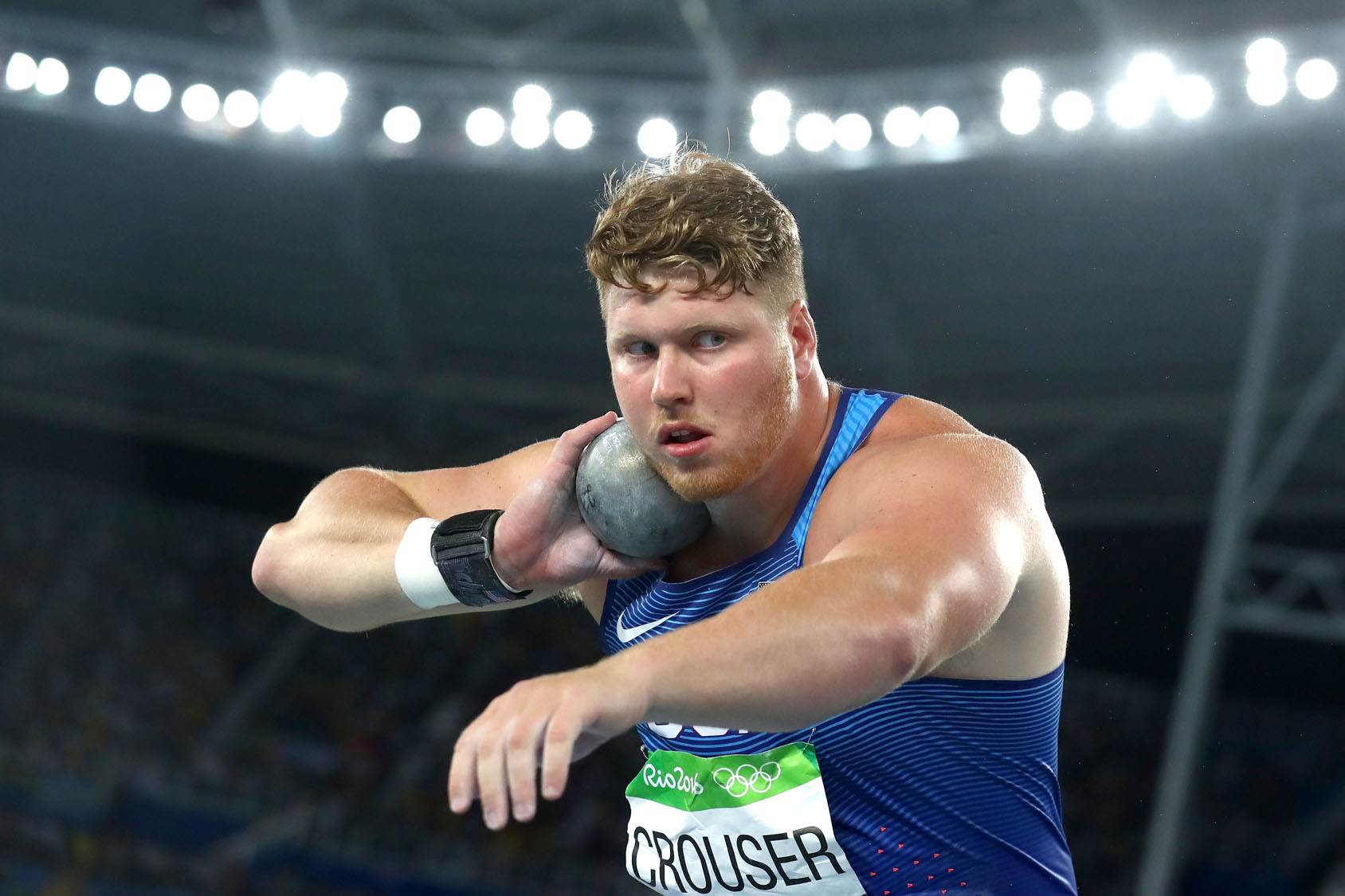 USA's Ryan Crouser takes gold in men's shot put final at Rio 2016 Olympics