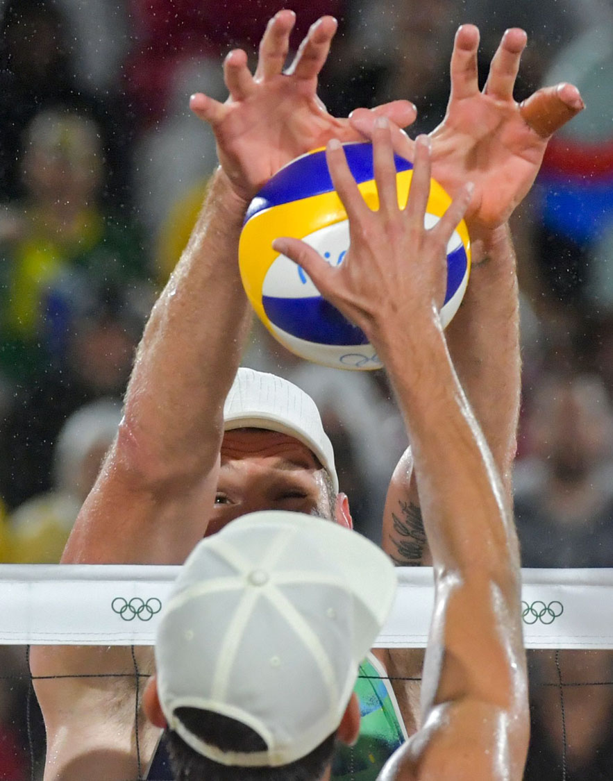 Block beach volley