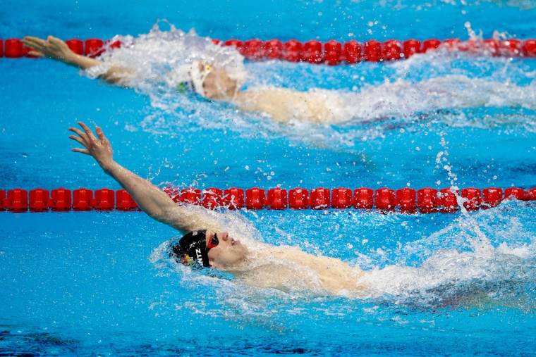 Philip Heintz of Germany competes in the first Semifinal of the Men's 200m Individual Medley on Day 5 of the Rio 2016 Olympic Games at the Olympic Aquatics Stadium on August 10, 2016 in Rio de Janeiro, Brazil. (Photo by Adam Pretty/Getty Images)