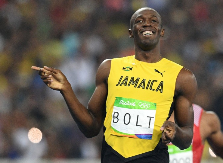 Jamaica's Usain Bolt reacts after competing in the Men's 200m Semifinal during the athletics event at the Rio 2016 Olympic Games at the Olympic Stadium in Rio de Janeiro on August 17, 2016. (Johannes Eisele/AFP/Getty Images)