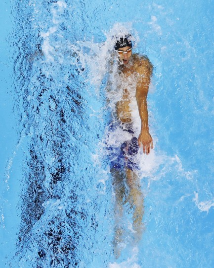 United State's Michael Phelps competes in the 200m individual medley semifinals during to the swimming competitions at the 2016 Summer Olympics, Wednesday, Aug. 10, 2016, in Rio de Janeiro, Brazil. (AP Photo/Morry Gash)