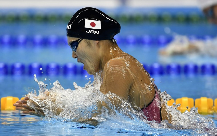 Japan's Rie Kaneto competes in a women's 200-meter breaststroke final during the swimming competitions at the 2016 Summer Olympics, Thursday, Aug. 11, 2016, in Rio de Janeiro, Brazil. (AP Photo/Martin Meissner)