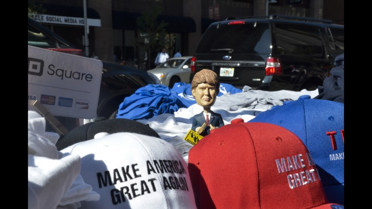 A Donald Trump bobblehead for sale on June 20 in Cleveland where the Republican National Convention was held.