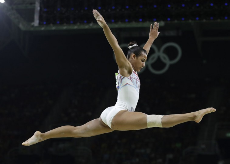 France's Marine Boyer performs on the balance beam during the artistic gymnastics women's apparatus final at the 2016 Summer Olympics in Rio de Janeiro, Brazil, Monday, Aug. 15, 2016. (AP Photo/Rebecca Blackwell)