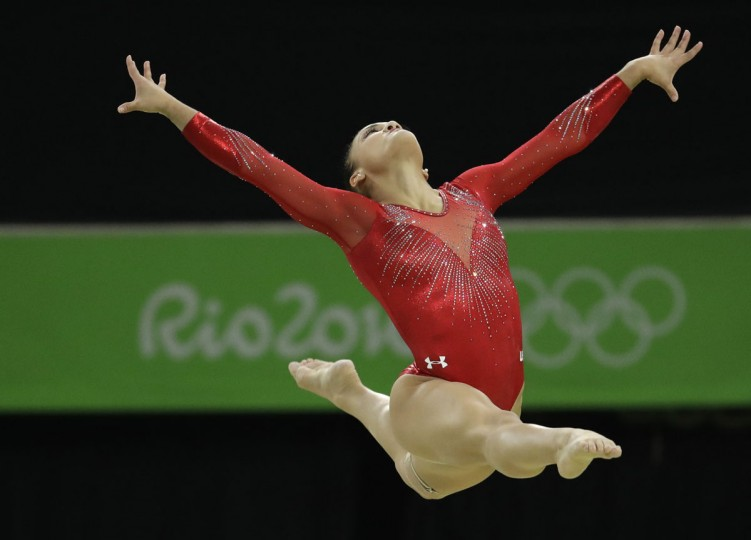 United States' Lauren Hernandez performs on the balance beam during the artistic gymnastics women's apparatus final at the 2016 Summer Olympics in Rio de Janeiro, Brazil, Monday, Aug. 15, 2016. (AP Photo/Dmitri Lovetsky)