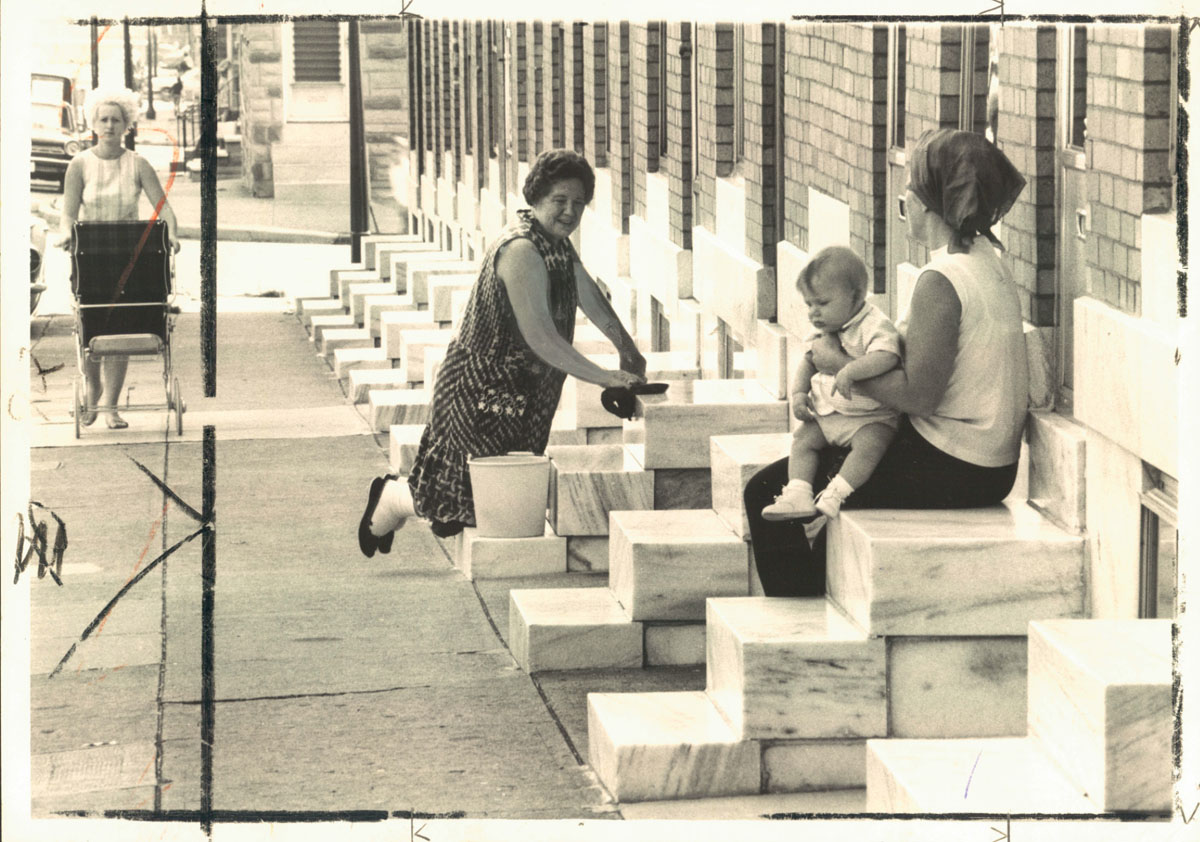 From the vault: Scrubbing Baltimore's white steps
