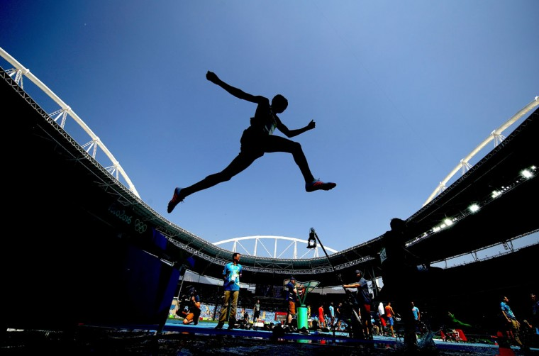 Yemane Haileselassie of Eritrea competes in the Men's 3000m Steeplechase Final on Day 12 of the Rio 2016 Olympic Games at the Olympic Stadium on August 17, 2016 in Rio de Janeiro, Brazil. (Photo by Cameron Spencer/Getty Images)