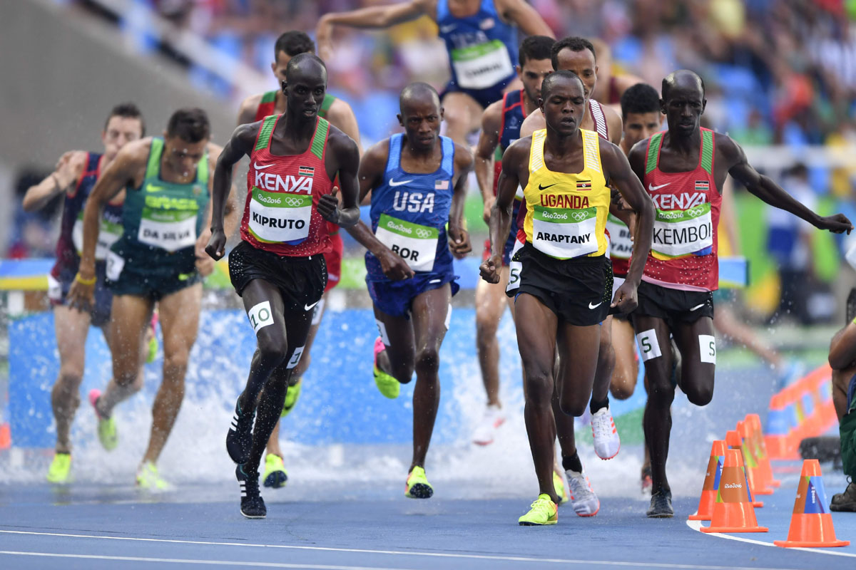 Olympic record falls in men s steeplechase event for Steeplechase