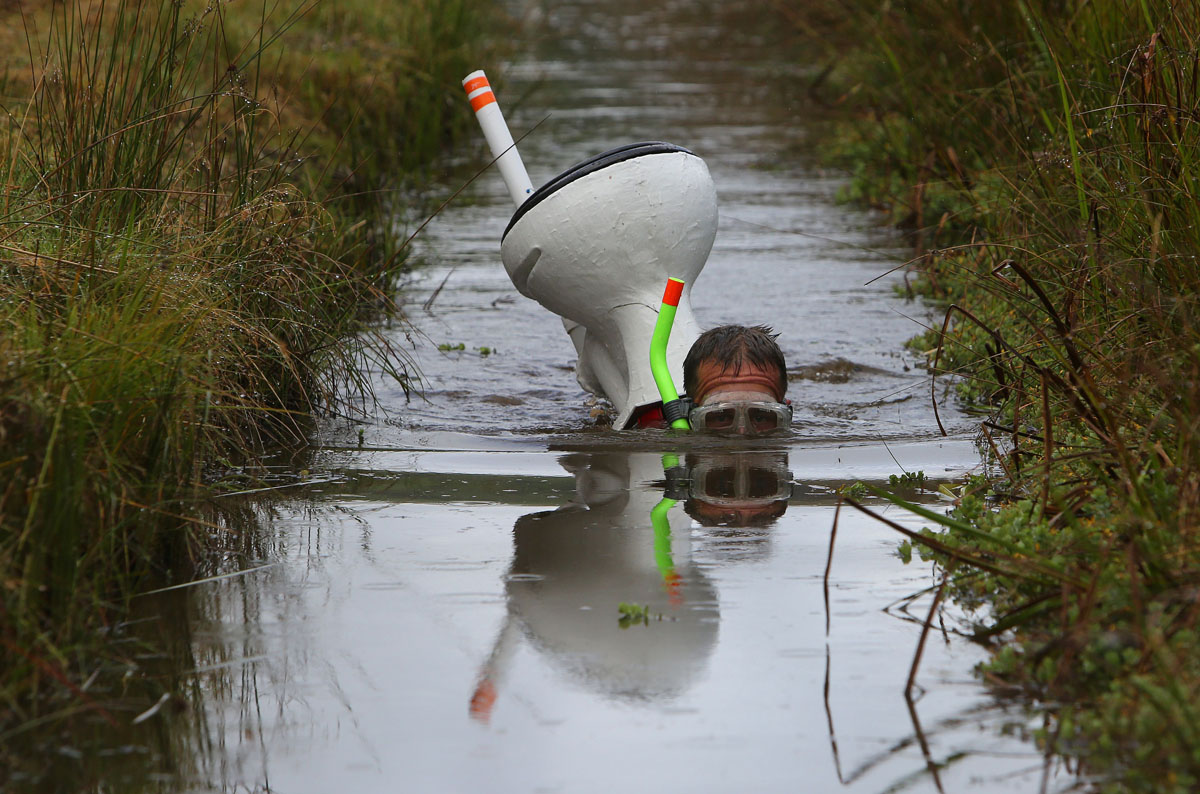 Muddy waters at the World Bog Snorkeling Championships