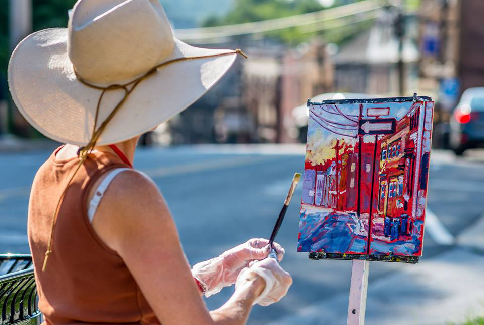 Plein air paintings capture pre-flood Ellicott City