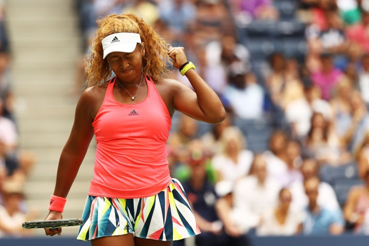 Naomi Osaka of Japan reacts against Madison Keys of the United States during her third round Women's Singles match on Day Five of the 2016 US Open at the USTA Billie Jean King National Tennis Center on September 2, 2016 in the Flushing neighborhood of the Queens borough of New York City. (Photo by Elsa/Getty Images)