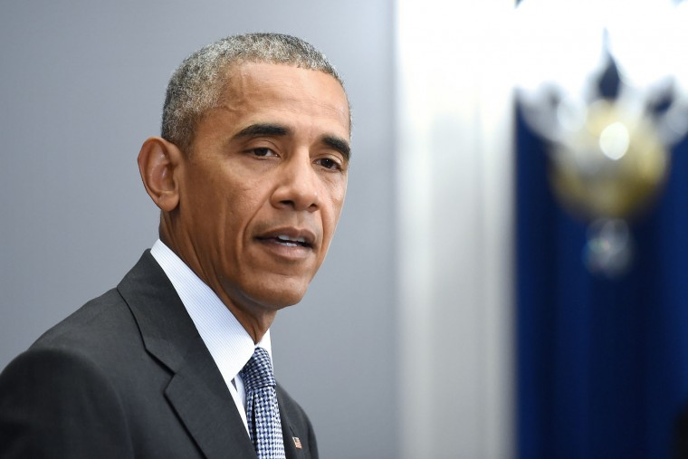 U.S. President Barack Obama holds a press conference about the recent bombings in the New York region at the Lotte New York Palace Hotel on September 19, 2016 in New York City. On the evening of September 17, 2016, a bomb placed in a dumpster exploded in lower Manhattan injuring at least 29 people. (Photo by Anthony Behar-Pool/Getty Images)