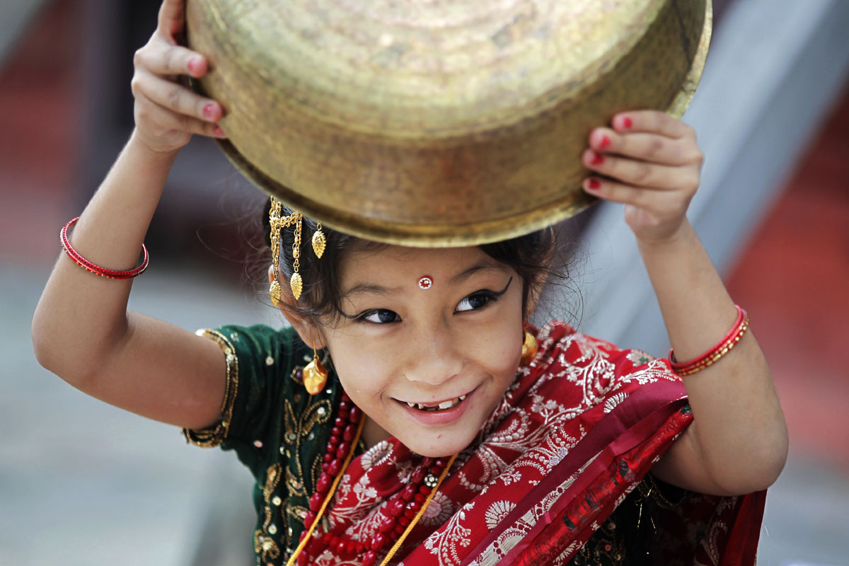 Dancing, parades and a 'living goddess' at Nepal's largest religious festival
