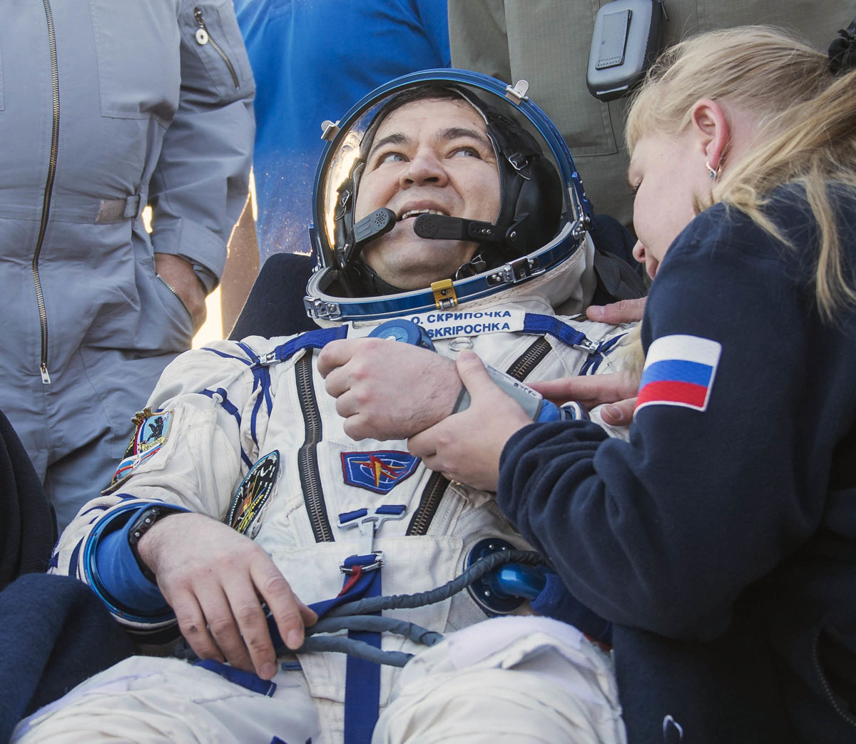 Back to Earth: Crew from the International Space Station land in Kazakhstan