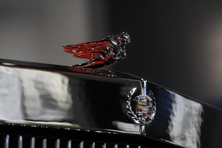 The hood ornament on Chuck Berry's Cadillac 1973 El Dorado is seen at the National Museum of African American History and Culture.   (Kim Hairston/Baltimore Sun)