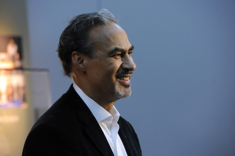 Phil Freelon, lead architect, for the Smithsonian National Museum of African American History and Culture speaks during a media preview tour.  (Kim Hairston/Baltimore Sun) 1322.