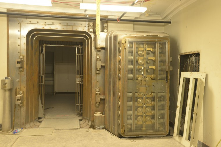 A wider shot of the second vault beneath the Federal Reserve Bank in Baltimore. The vault doesn't have much use now that the building has been converted into condos. (Christina Tkacik/Baltimore Sun)