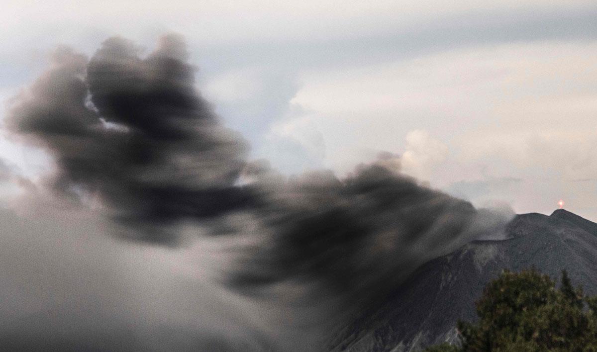 Turrialba Volcano Erupts In Cartago Costa Rica