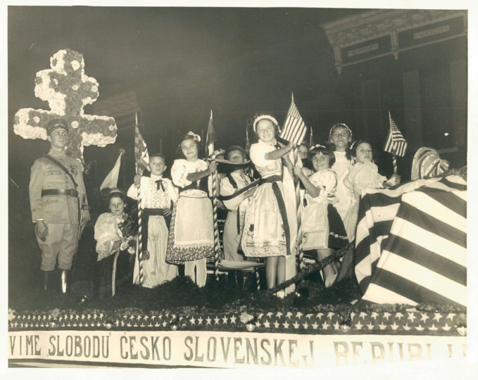 Czechoslovakian parade in Baltimore, photo dated October 30, 1935. (Baltimore Sun archives)