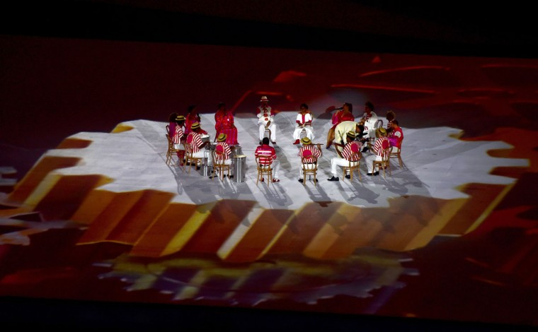 View of the opening ceremony of the Paralympic Games at Maracana Stadium in Rio de Janeiro, Brazil, on September 7, 2016. (TASSO MARCELO/AFP/Getty Images)