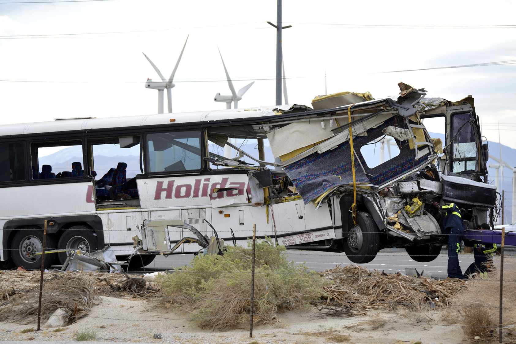 Tour bus crash in Southern California kills 13, injures 31