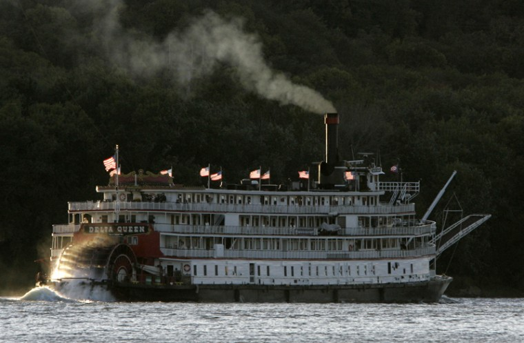"The Trust would like Houma, Louisiana's The Delta Queen steamboat to return to overnight passenger cruising as a way of ""securing"" its future. (Al Behrman/AP)"