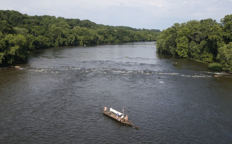 "The ""scenic integrity"" of the James River in Virginia at Jamestown, where America's first permanent English settlement was founded in 1607, is threatened by a proposed transmission line, the trust says. (Steve Helber/AP)"