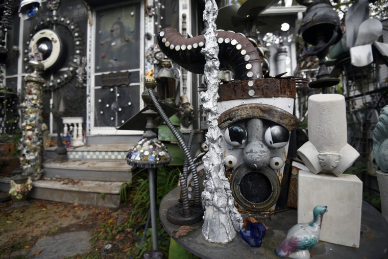 Artist A. Clarke Bedford's Hyattsville home is a series of assemblages.  (Kim Hairston/Baltimore Sun)