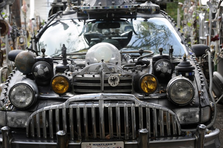 A. Clarke Bedford's Subwagn art car is seen outside his Hyattsville home.  (Kim Hairston/Baltimore Sun)