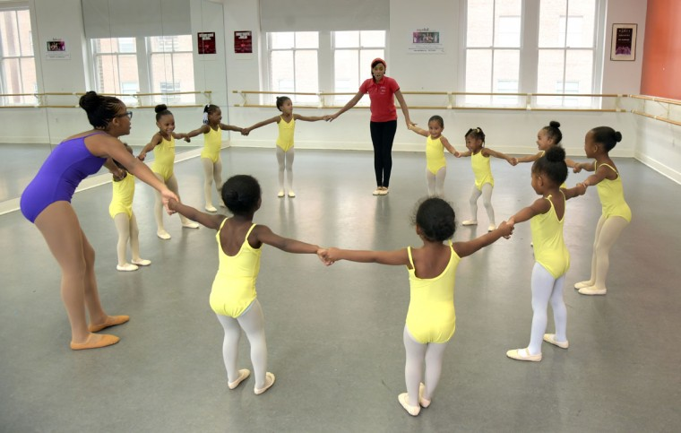 "Creative Movement is the first dance class offered to beginning ballet students at Rayn Fall. According to the Rayn Fall Dance Studio brochure, the class is, ""specifically structured to bring the joy of music and movement to young children."" (Algerina Perna/Baltimore Sun)"