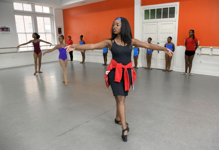 Rayn Fall Dance Studio, founded by Sharayna A. Christmas Rose, center, offers two programs: a Community Dance Program (CDP) and a Professional Training Program (PTP). (Algerina Perna/Baltimore Sun)