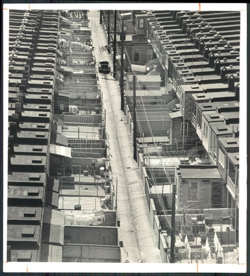 Baltimore rowhouses, 1963.