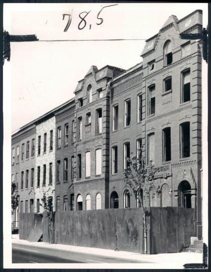 Vacant houses, 1975. (Baltimore Sun)