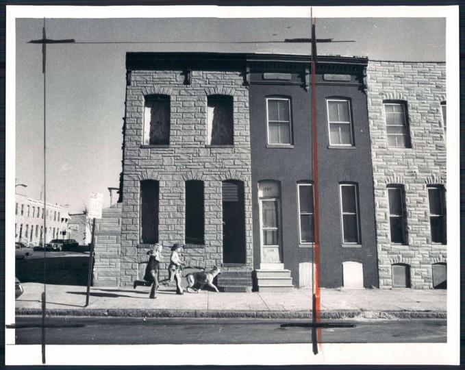 Vacant houses, 1976. (Baltimore Sun)