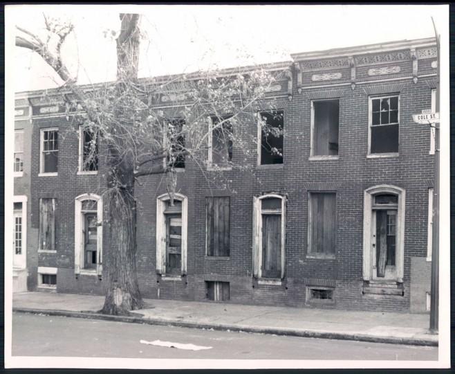 Vacant houses, 1969. (Baltimore Sun)