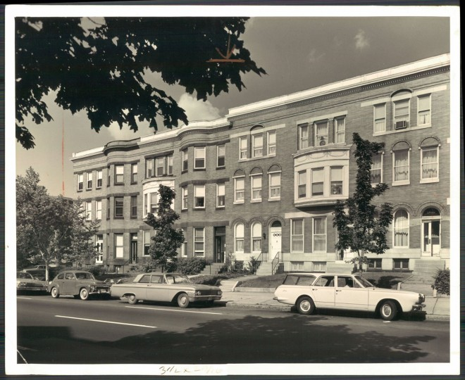 Rowhouses, redesigned. 1963. (Baltimore Sun)