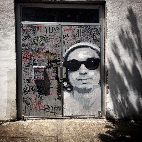 """Artist Gregg Deal began working in Baltimore soon after the 2015 protests. """"So there's a lot of conversations about whose city it is and who does it belong to,"""" Deal said. """"But as an indigenous person I always bring in the trump card of, well this is Indian land first."""" (Photo courtesy of the artist)"""