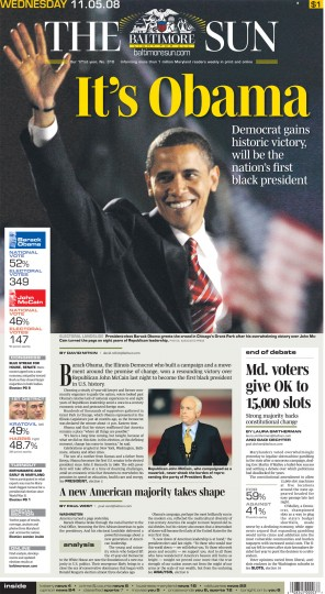 2008 Sun front page: It's Obama