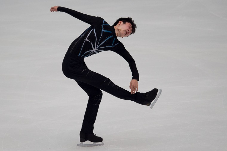Boyang Jin of China performs during the men's short program the Ice Dance short dance at the Cup of China ISU Grand Prix of Figure Skating in Beijing on November 18, 2016. (Nicolas Asfouri/AFP/Getty Images)