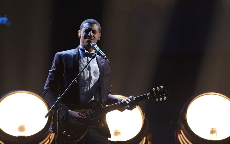 Manuel Medrano performs during the show of the 17th Annual Latin Grammy Awards on November 17, 2016, in Las Vegas, Nevada. (Valerie Macon/AFP/Getty Images)