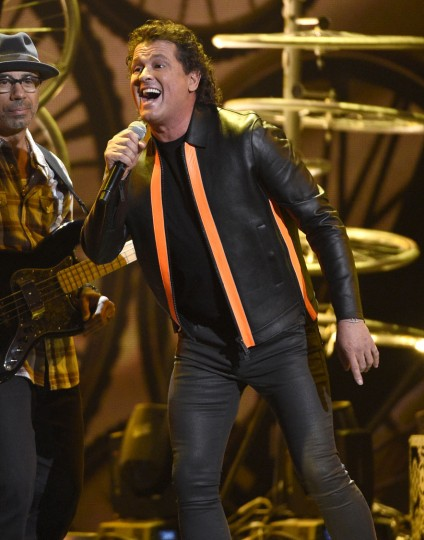 "Carlos Vives performs ""La Bicicleta"" at the 17th annual Latin Grammy Awards at the T-Mobile Arena on Thursday, Nov. 17, 2016, in Las Vegas. (Photo by Chris Pizzello/Invision/AP)"