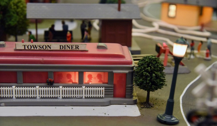 The Towson DIner, a York Road fixture since 1957, is included in The Fire Museum of Maryland's annual train garden.   (Kim Hairston/Baltimore Sun)