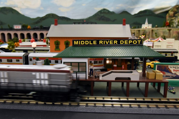 The Middle River Depot is part of The Fire Museum of Maryland's annual train garden.  (Kim Hairston/Baltimore Sun)